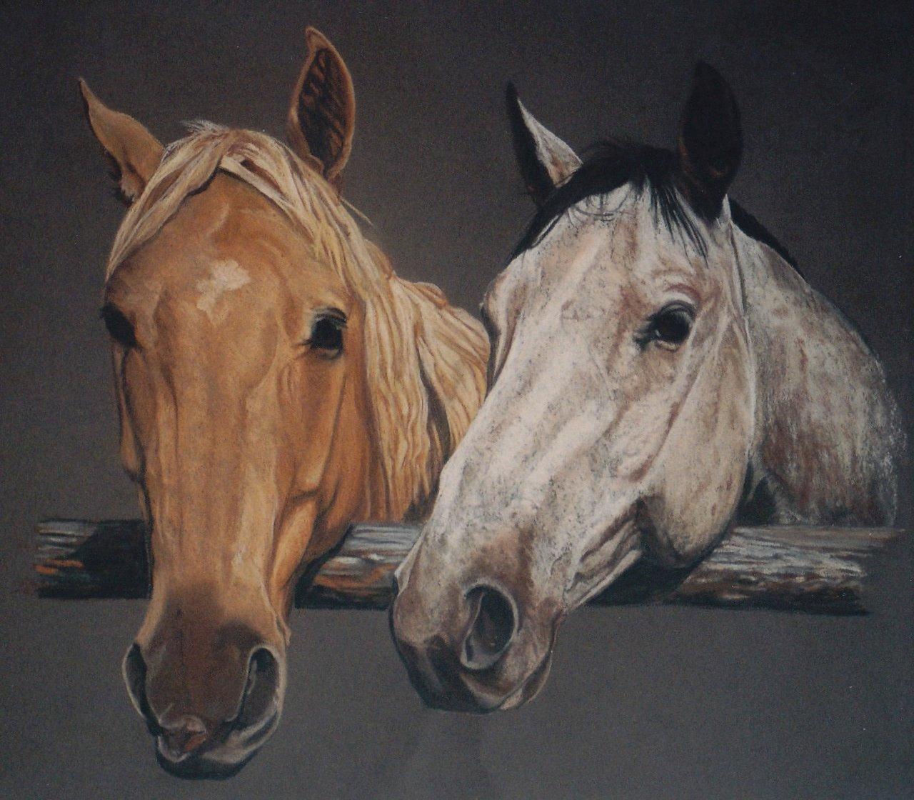 Gorgeous original custom horse portrait by Jennifer Lyon copyright