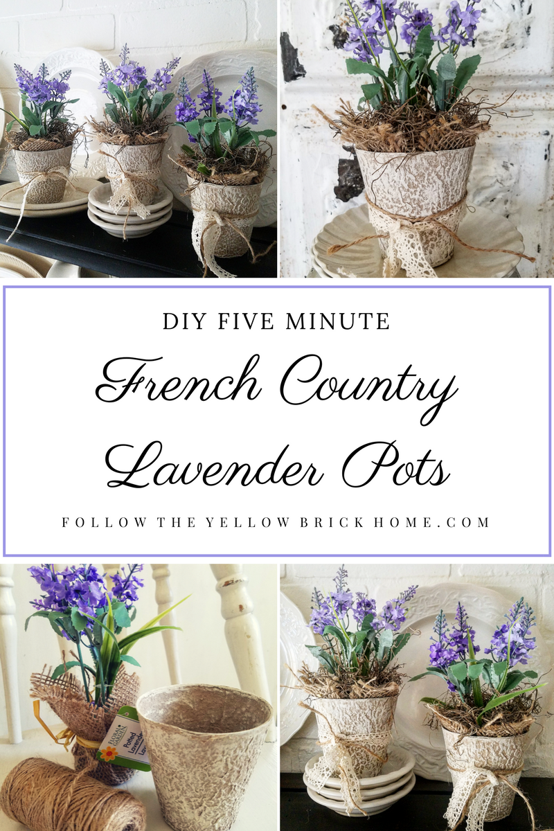 Beautiful French Country Lavender Pots DIY