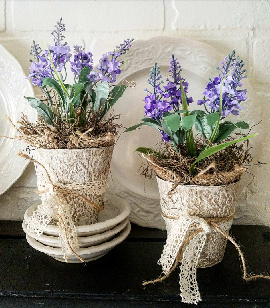 Beautiful French Country Lavender Pots DIY Five Minute Lavender Pots