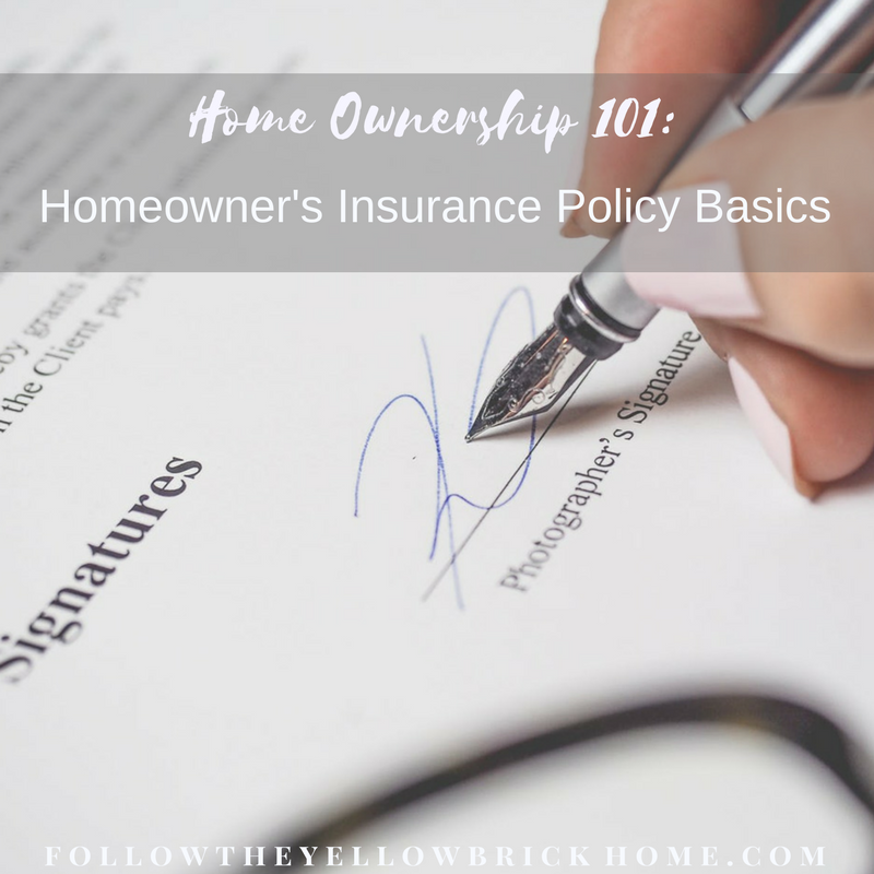 What does a homeowner's insurance policy cover