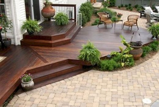 Beautiful deck and patio combo