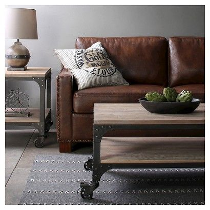 The Industrial living room collection at Target affordable industrial urban style