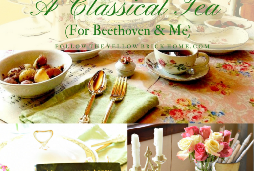 Vintage Tea Party Music Theme Vintage dishes tea cups roses themed tea party