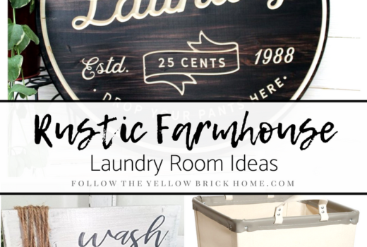 Rustic Farmhouse Laundry Room Ideas