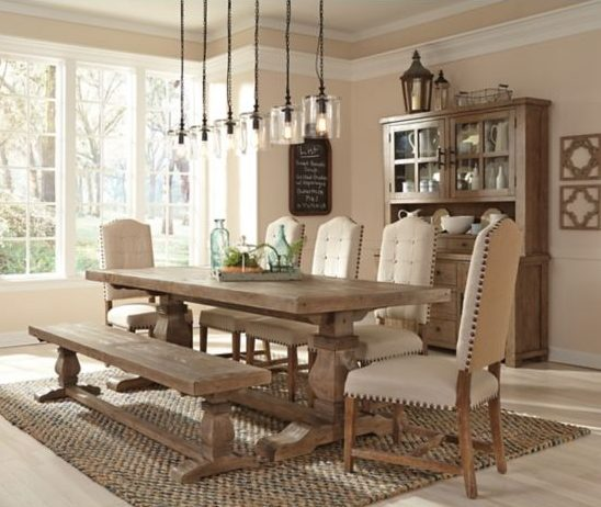Milena Rug French Country Farmhouse Dining Room With Jute Soft Surroundings Rugs