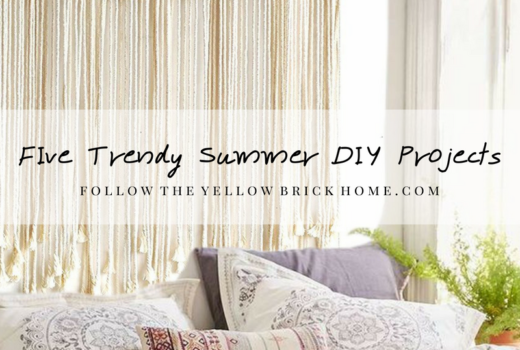 Trendy DIY Summer Projects Shibori, Macrame, Embroidery Hoop Wreaths, Watercolors, Seashell Art