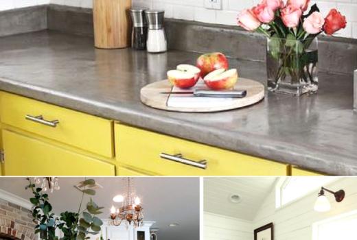 DIY countertop makeover Painted countertops