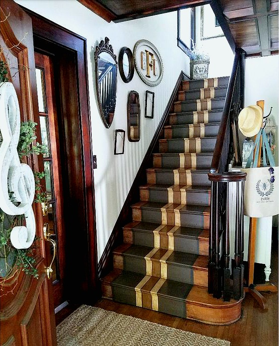 Painted Staircase: Follow The Yellow Brick Home