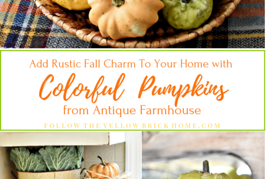 Add Rustic Fall Charm To Your Home With Colorful Pumpkins From Antique Farmhouse