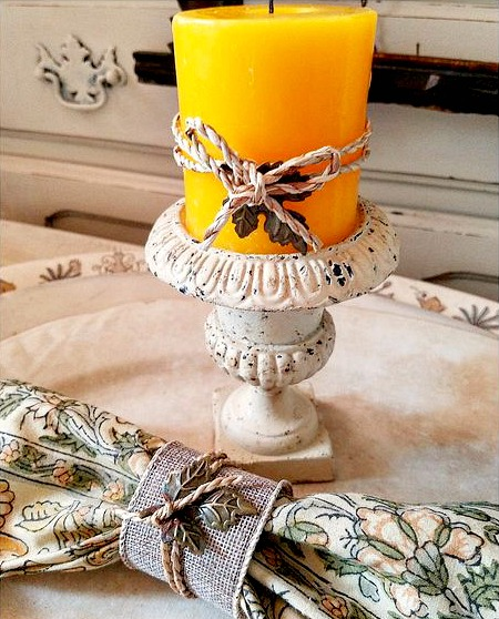 DIY napkin rings paper towel roll