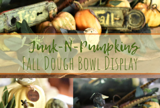 farmhouse style fall decorating dough bowl ideas