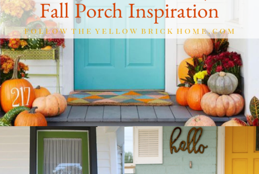 Painted Doors and Pumpkins Painted Door With Color pumpkins fall porch ideas