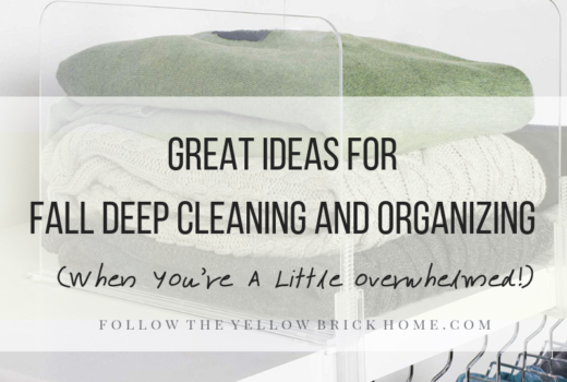 Fall Cleaning and Organizing Tips