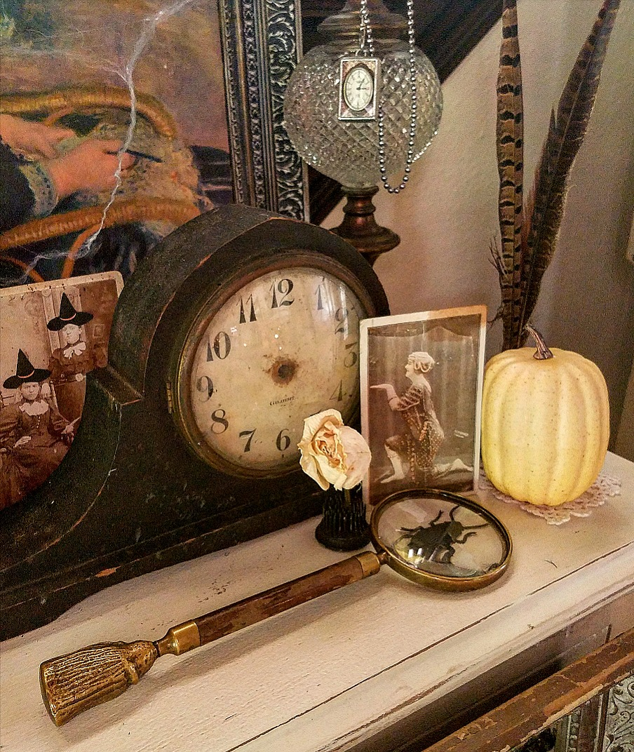 Decorate for Halloween with antique photographs and cabinet cards circus performer cabinet card