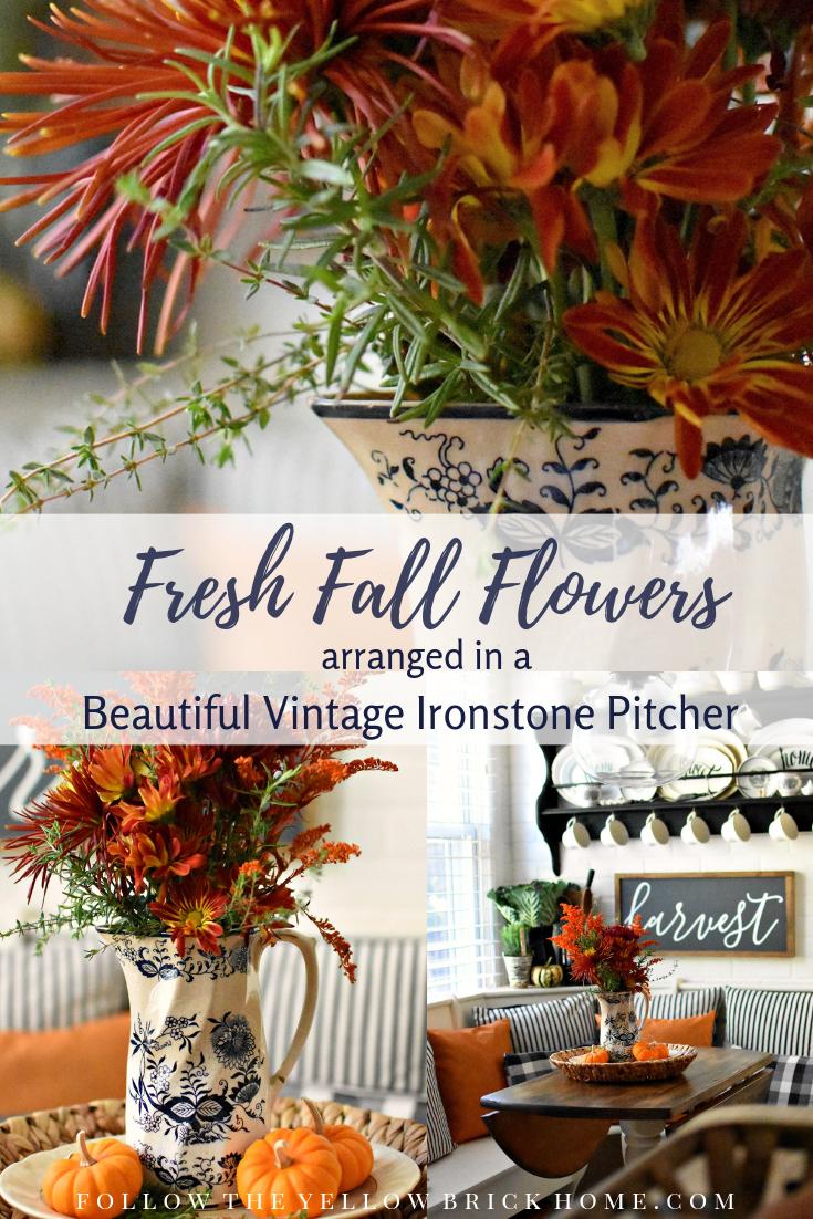 Follow The Yellow Brick Home Beautiful Fall Flower Arrangement In