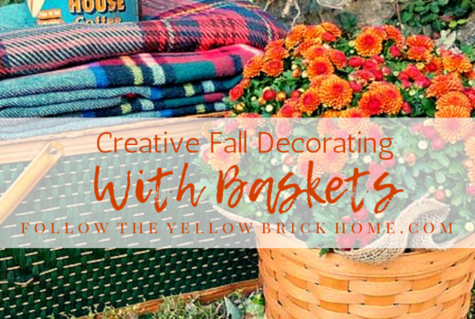Fall Decorating Ideas using baskets in fall decor