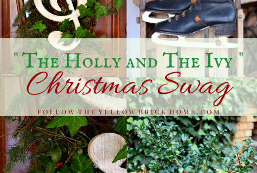 Christmas Swag using fresh holly and ivy