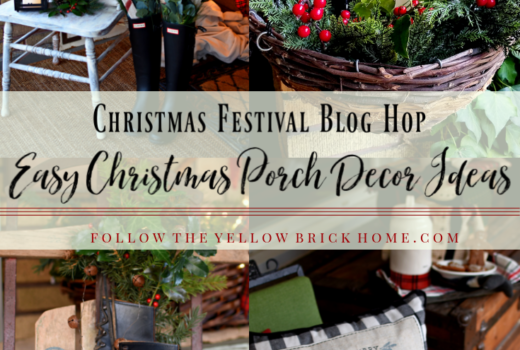 Easy Christmas Porch Decorating Ideas Farmhouse Porch Decor