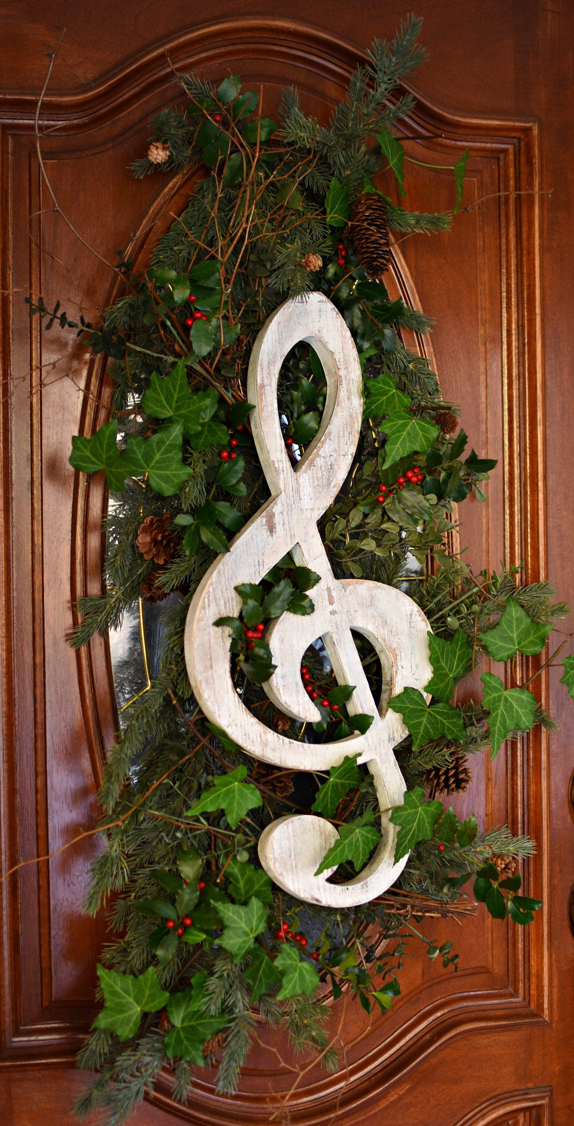 "Boxwood Wreath For Front Door Decor 17/"" Artificial Greenery Farmhouse Garland Ho"