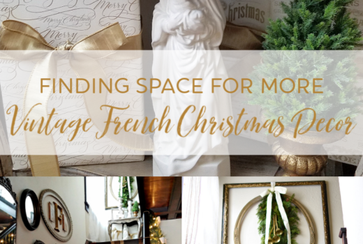 Beautiful French Country Christmas Decorating ideas Thrifted vintage French Christmas