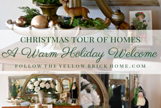 Beautiful French Country Vintage and Traditional Christmas decorating ideas Christmas Home Tour Green and Gold Christmas