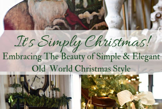 Vintage Christmas Ideas French Country Christmas and Old World European Christmas decorating Ideas