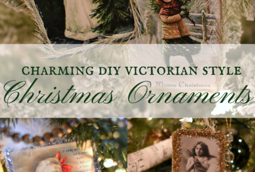 Charming DIY Victorian Style Christmas Ornaments