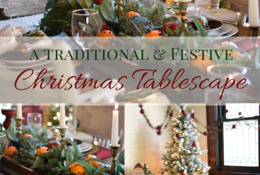 A Traditional and Festive Christmas Tablescape