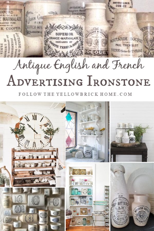 Collecting Antique English advertising ironstone antique French Advertising ironstone
