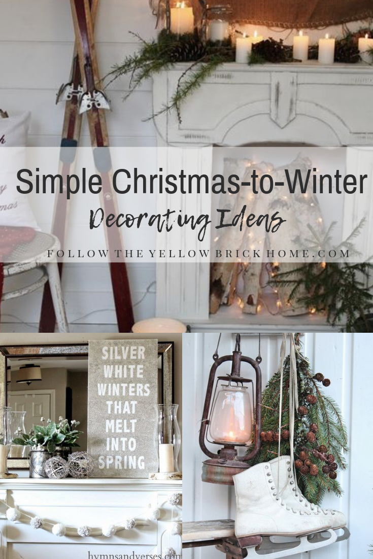 After Christmas decorating ideas to transition to winter rustic and natural winter decor