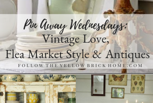 Pin Away Wednesdays! Vintage decor, antiques and flea market style inspiration on Pinterest