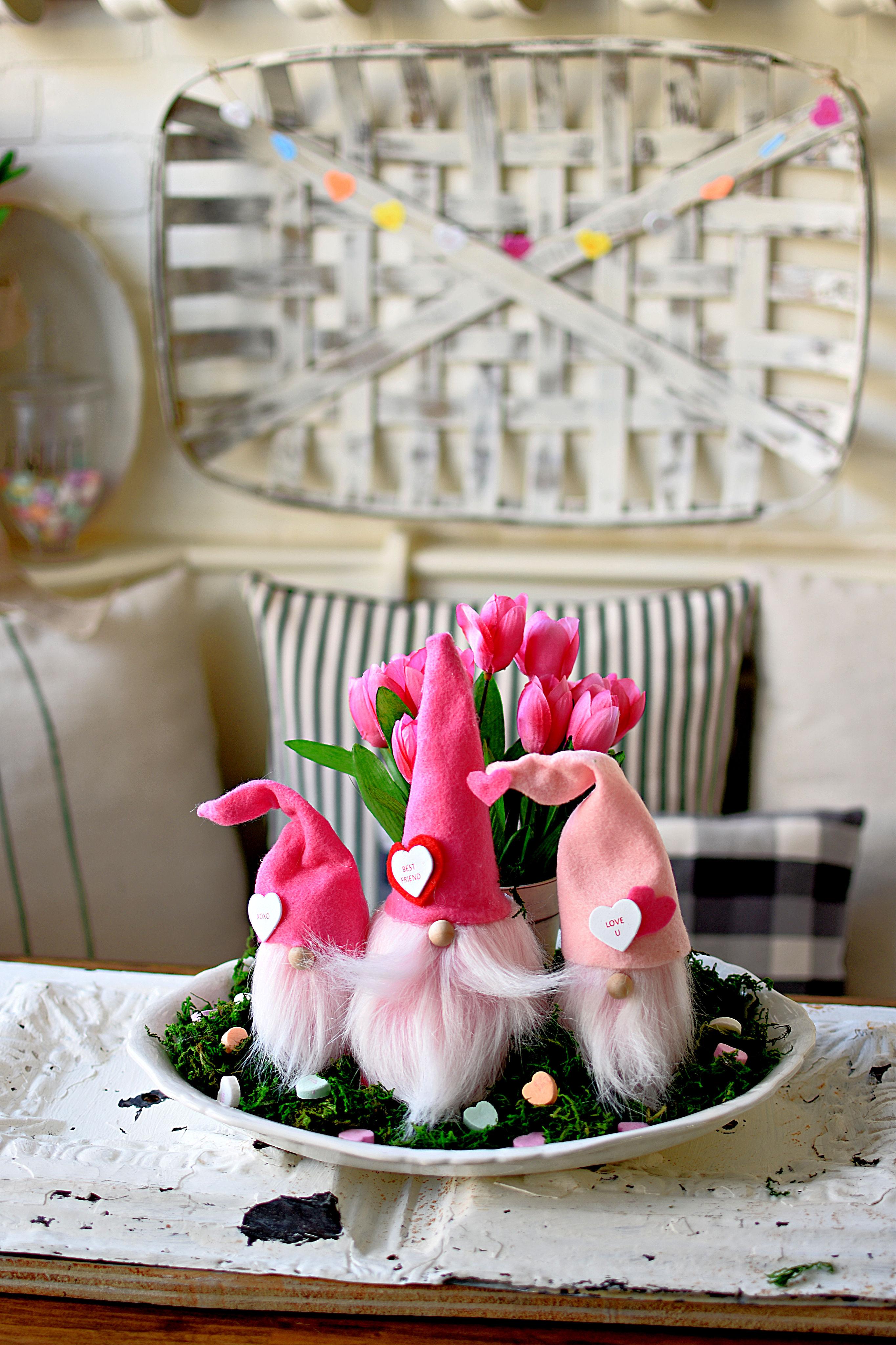 DIY Valentine Gnomes Valentines Day