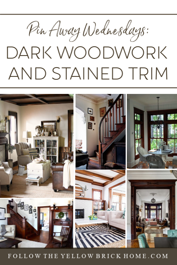 Dark Woodwork and Stained Trim