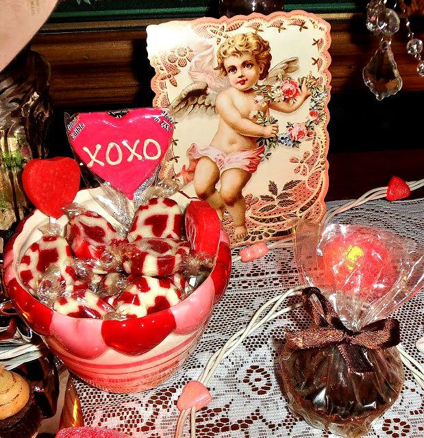 vintage Valentine vignette