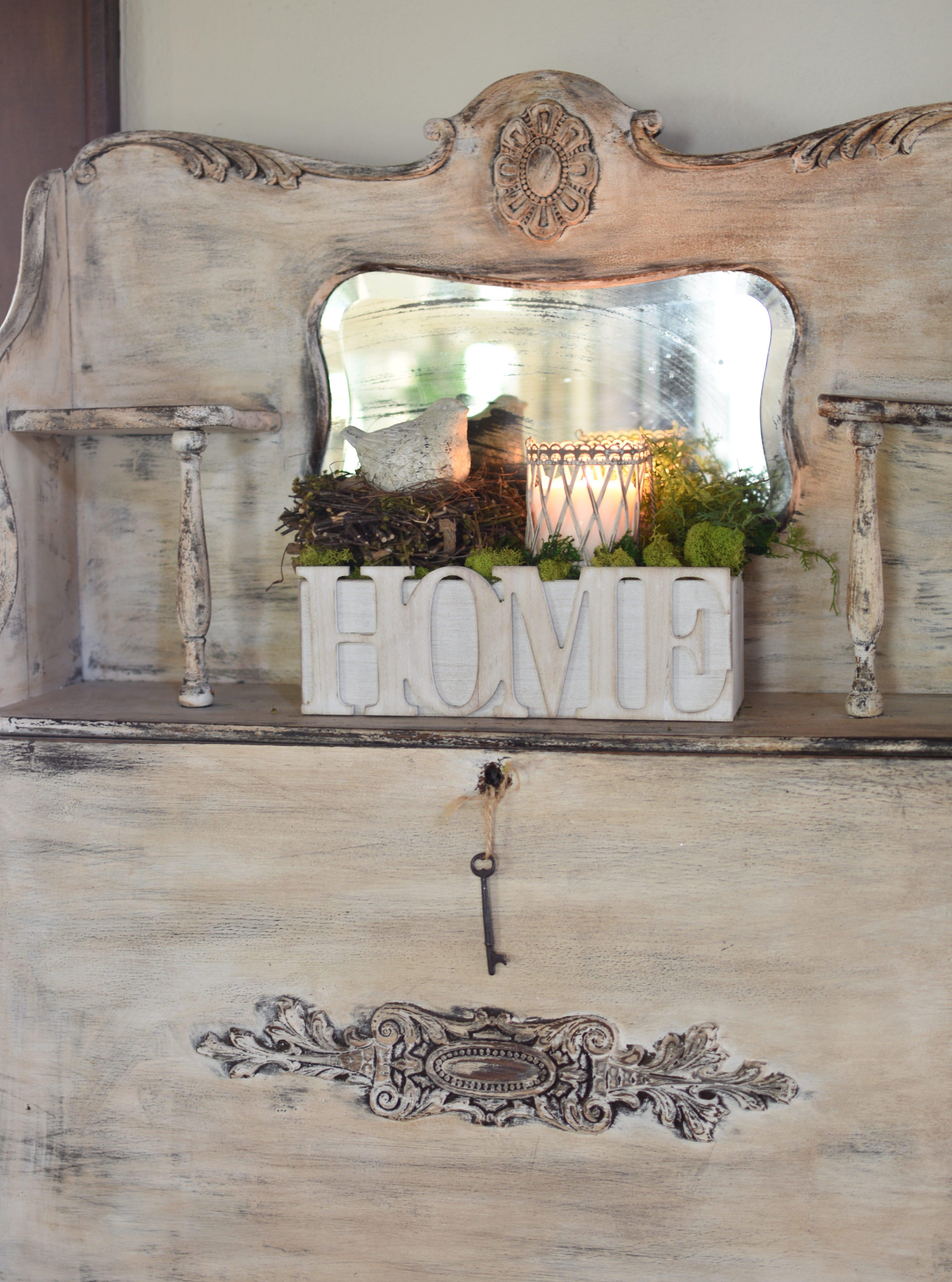 Easy Spring Decorating Ideas with birds Farmhouse spring decor vintage cottage spring