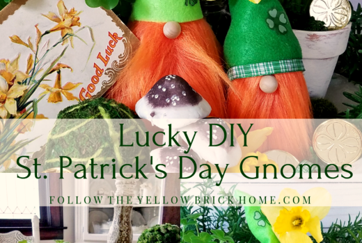 DIY St. Patrick's Day Gnomes Tomte Cute spring gnomes Leprechaun gnomes