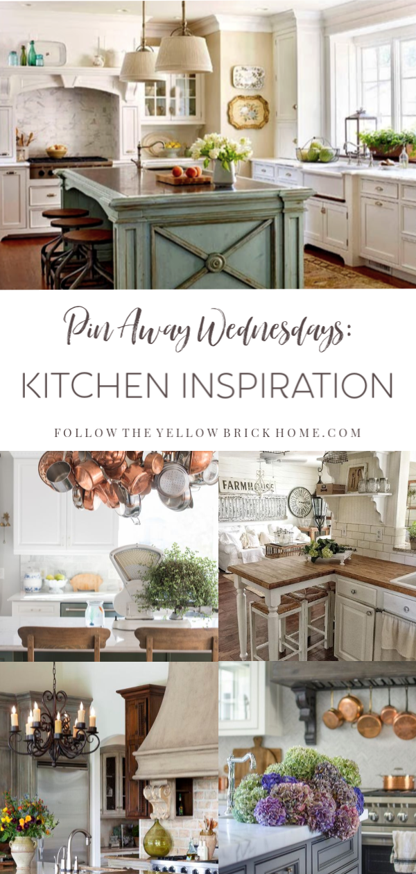 Gorgeous French Country Kitchens Farmhouse Kitchens #kitchens #frenchcountrykitchens #farmhousekitchen