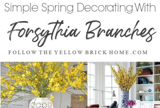 How to decorate with forsythia branches for spring