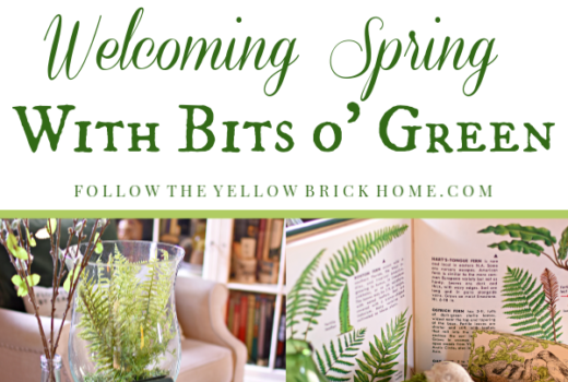 Early spring decorating with Green St. Patrick's Day decor