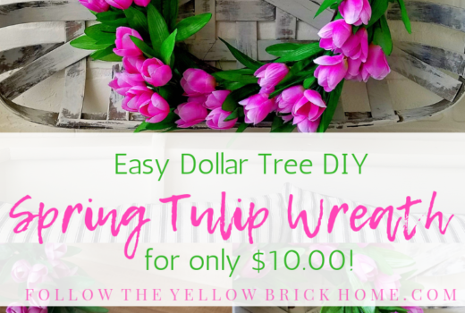 Easy Dollar Tree DIY Spring Tulip Wreath for only $10