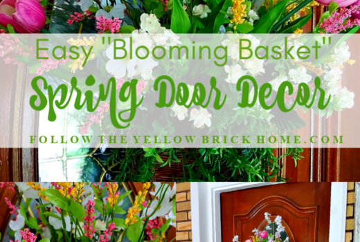 How to make an easy blooming basket spring door decor