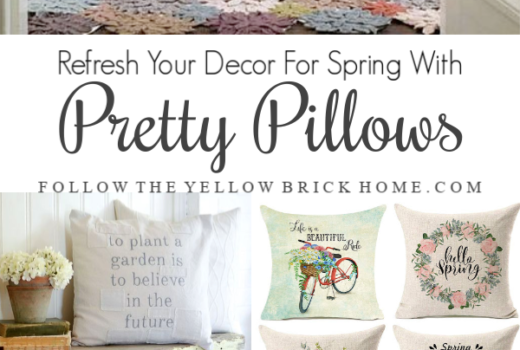 Easy spring decorating ideas spring pillows