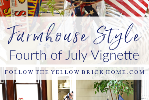 farmhouse style patriotic decor vintage fourth of July decorating ideas