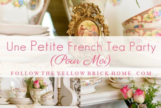 A little French Tea Party Vintage French Country Tea party inspiration