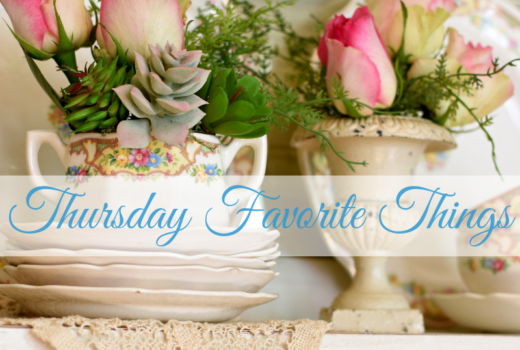 Spring Flowers and vintage decor
