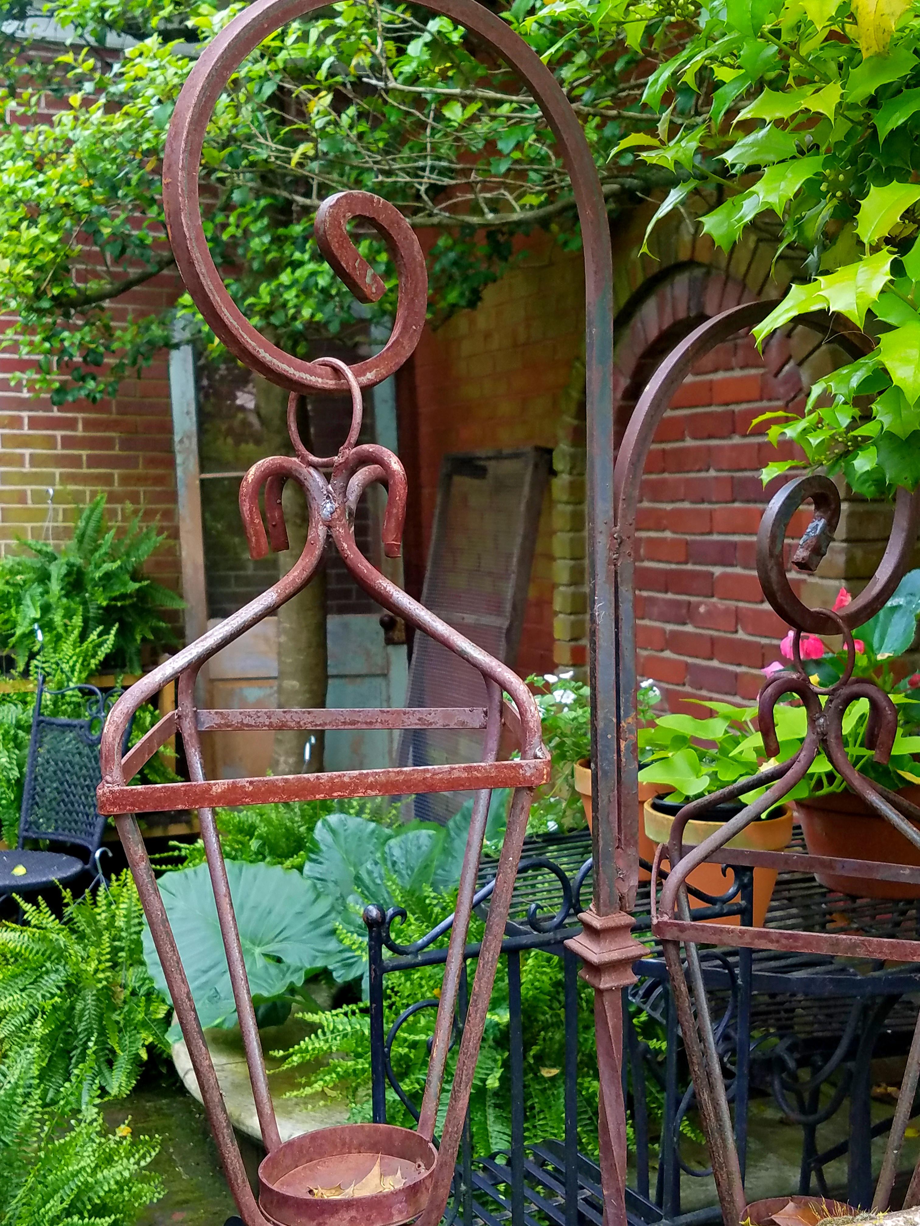 Chippy rusty garden junk vintage shade garden