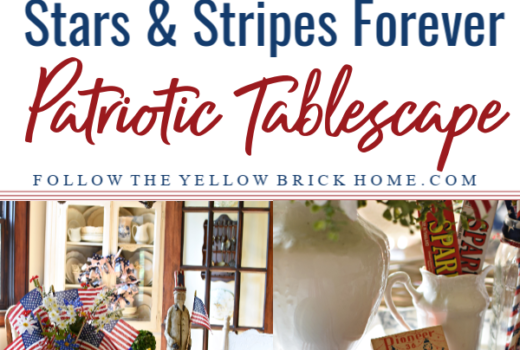 Stars and Stripes Forever Patriotic Tablescape