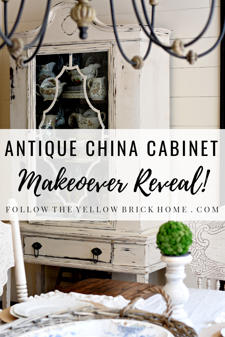 diy antique china cabinet makeover shabby chic furniture distressed chalk paint wax
