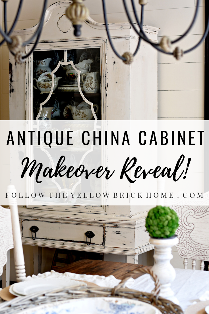 antique china cabinet makeover