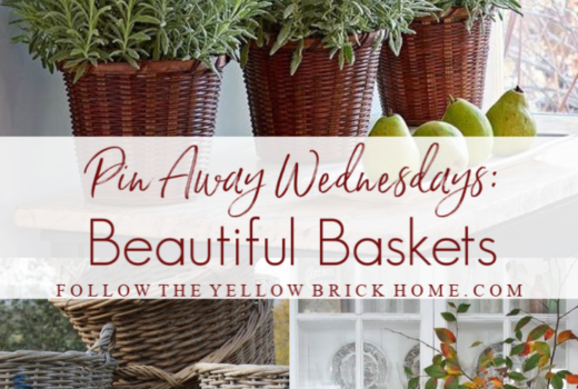 Gorgeous baskets french baskets farmhouse baskets how to decorate with baskets